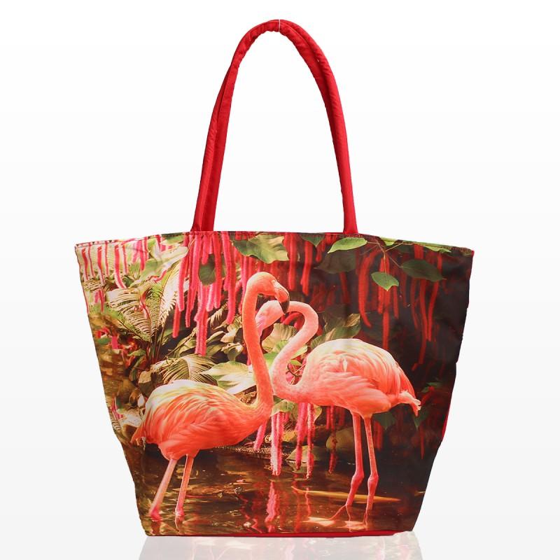 Плажна Чанта с принт фламинго