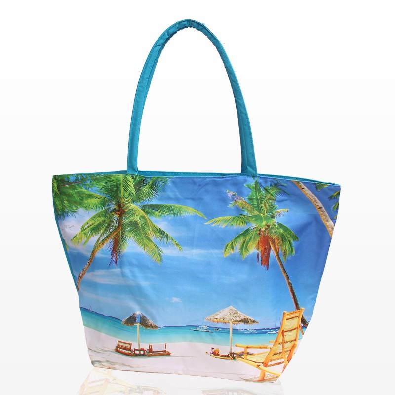 Плажна Чанта с принт палми