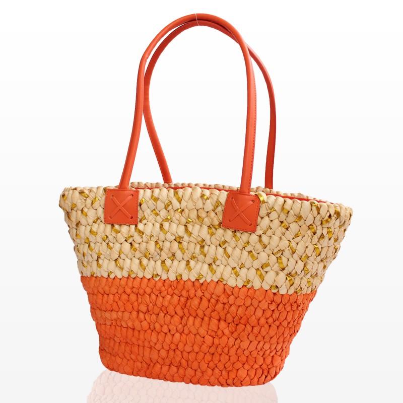 Плажна Кошница - Оранжева