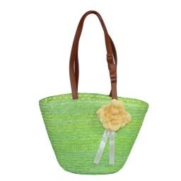 Плажна кошница с цвете