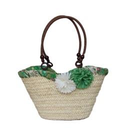 Плажна Плетена Чанта с цветя