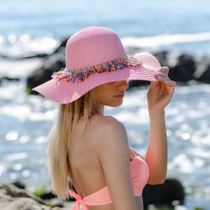 Плажна шапка розова