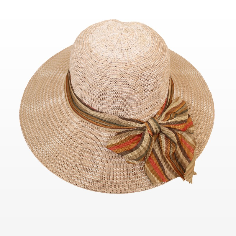Плажна шапка с панделка