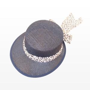 Плажна шапка с периферия - тъмно синя