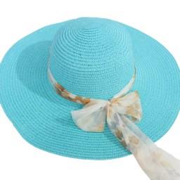 Плажна шапка с шалче