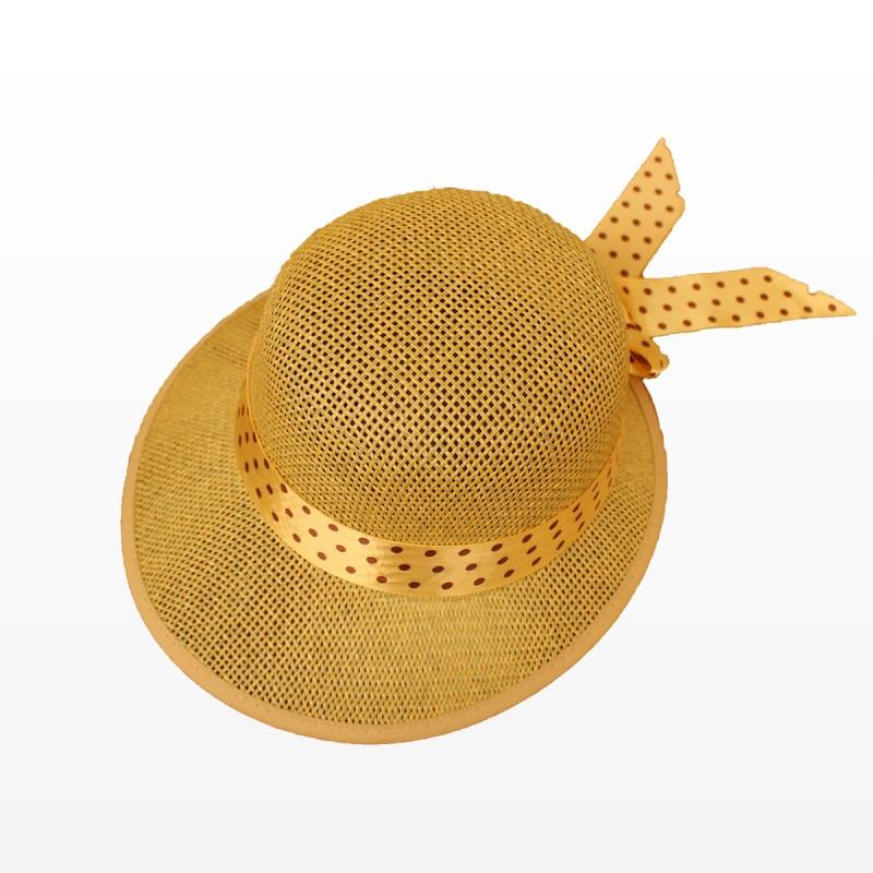 Плажна шапка Стефи - кафява