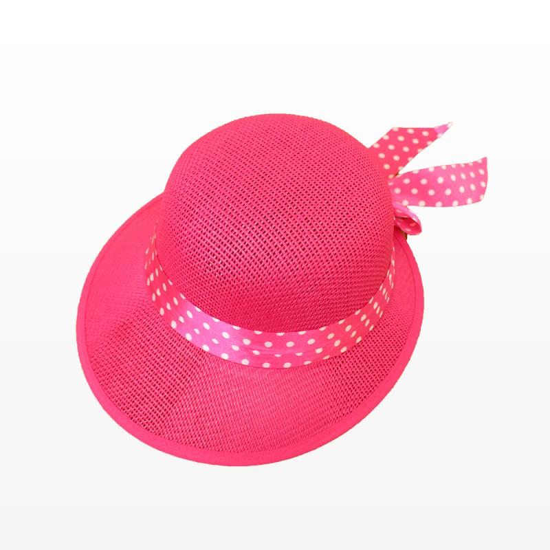 Плажна шапка Стефи - розова