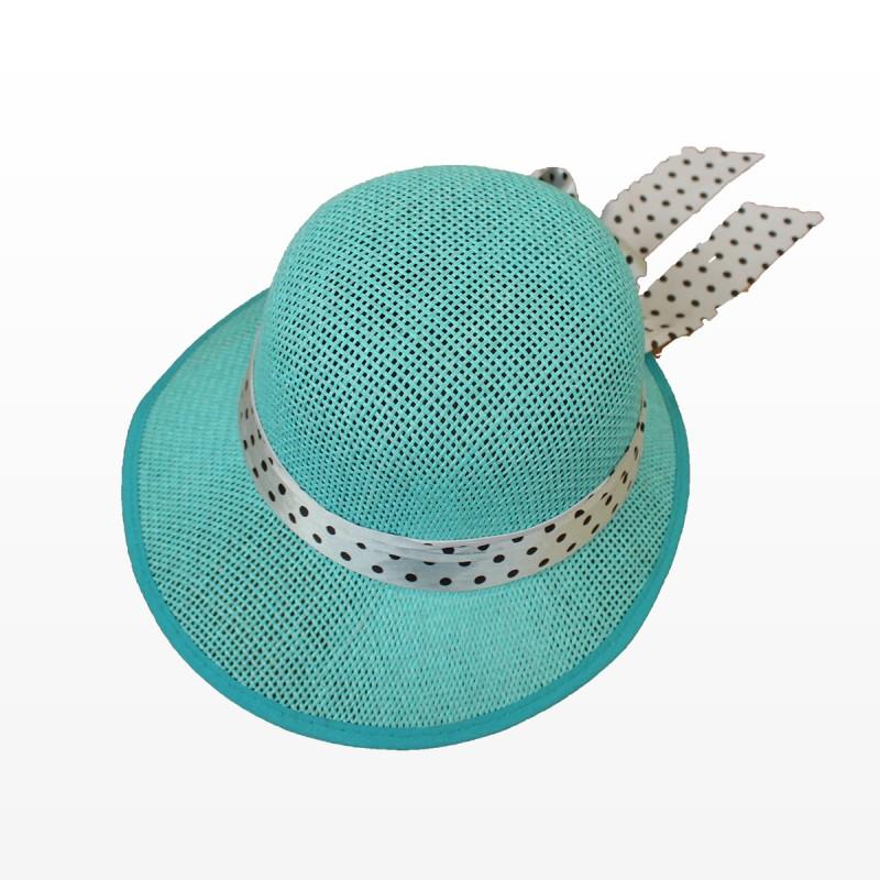 Плажна шапка Стефи - синя