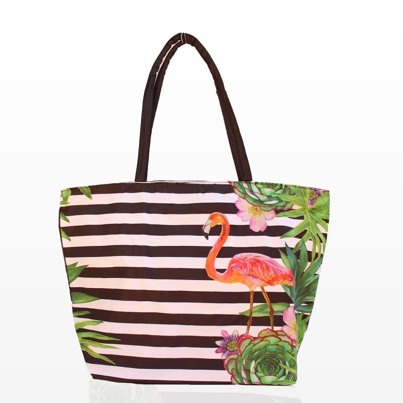 Плажни Чанти Рае с Фламинго и Цветя