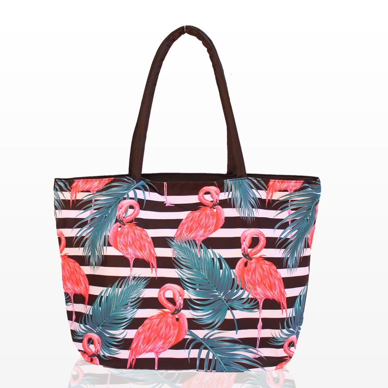 Плажни Чанти Рае с принт фламинго