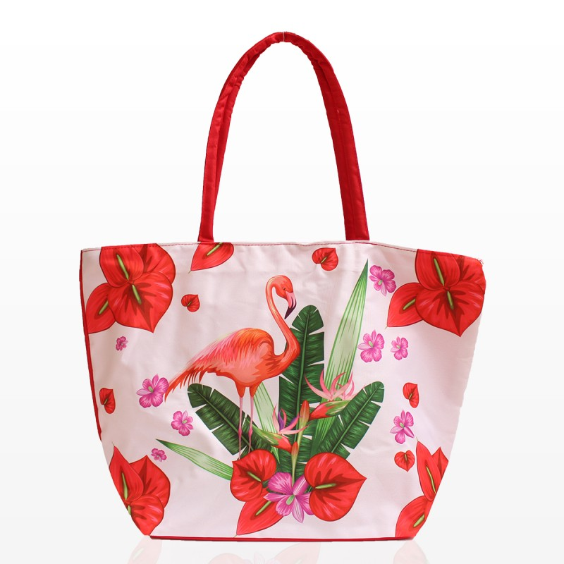 Плажни Чанти с Цветя и Фламинго