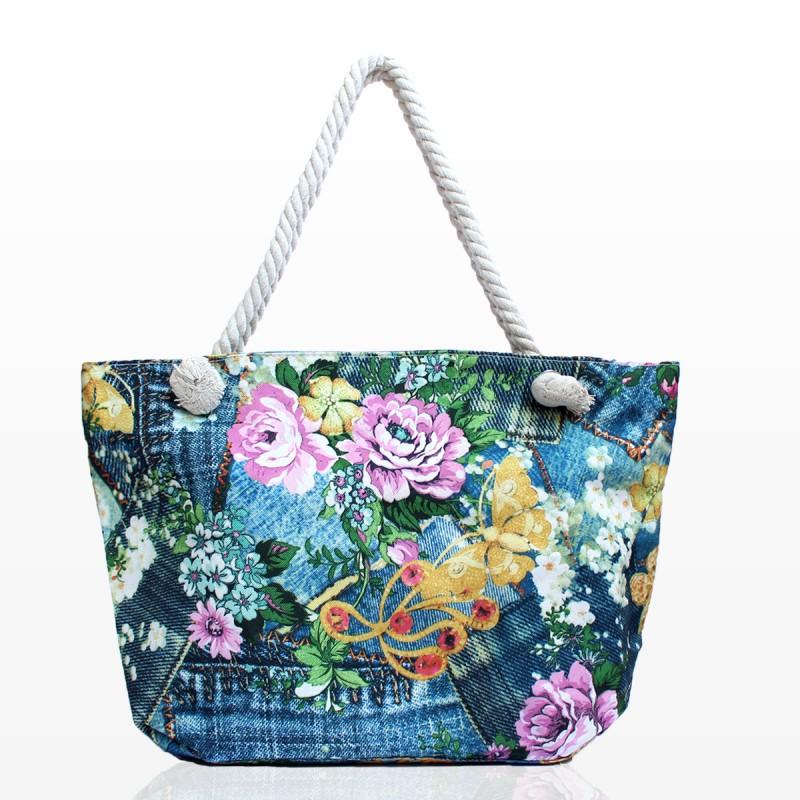 Плажни Чанти с Цветя - Код 3277