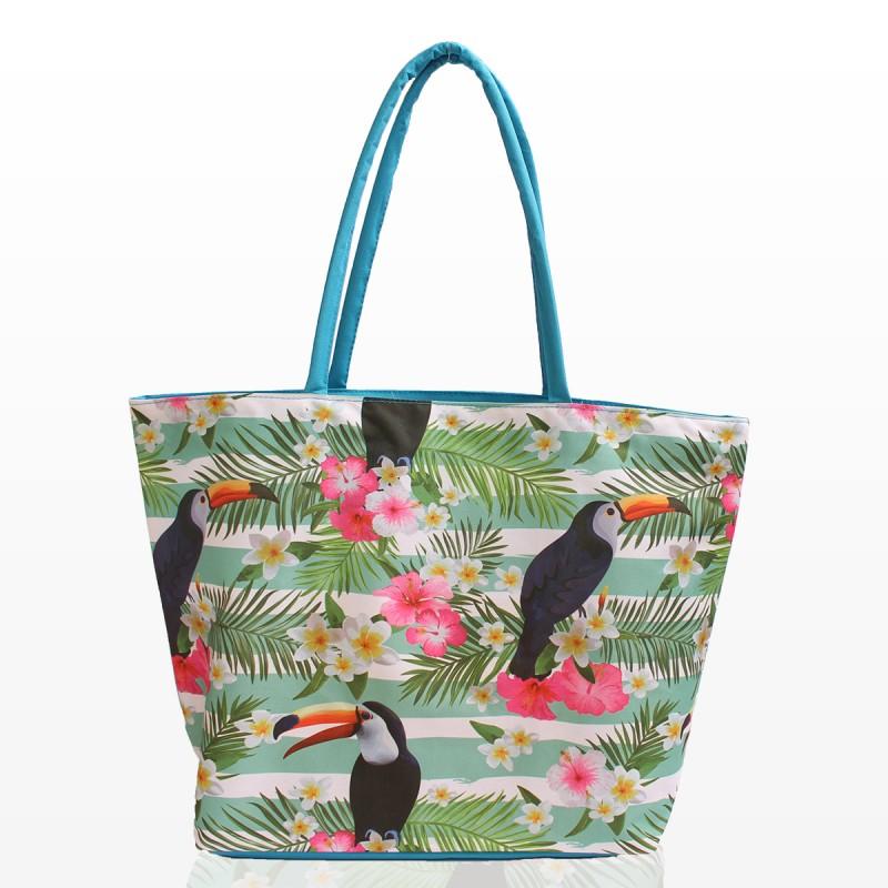 Плажни Чанти с екзотични цветя