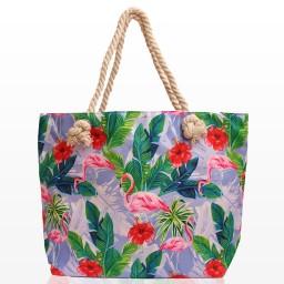 Плажни Чанти с Фламинго 168-2 - Шарена