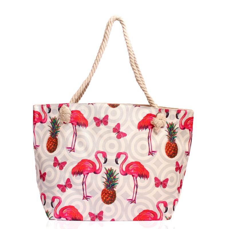 Плажни Чанти с Фламинго и Ананас - Код 3179
