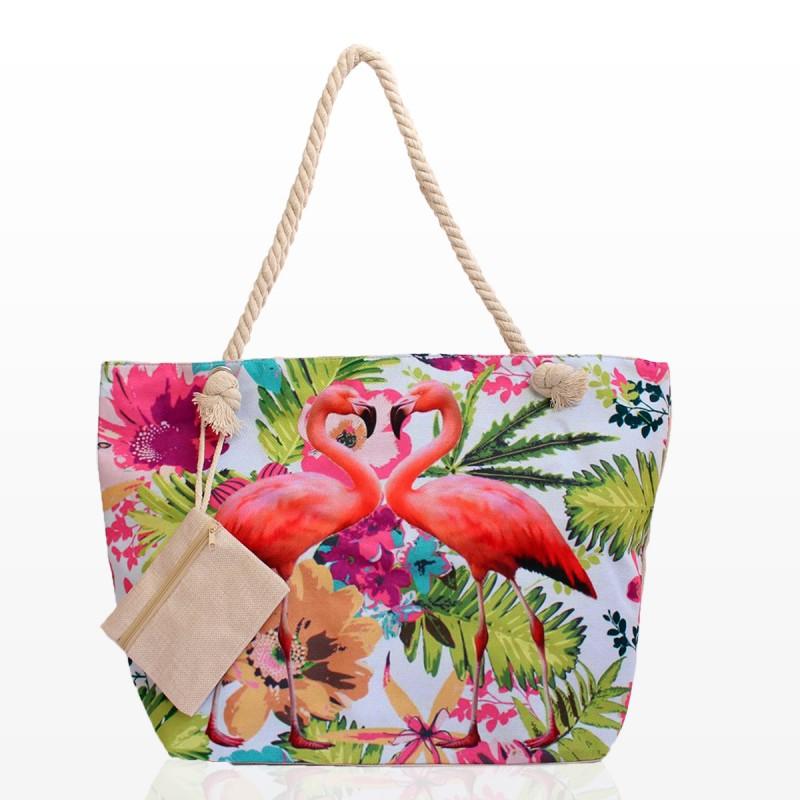 Плажни Чанти с Фламинго - Код 3194