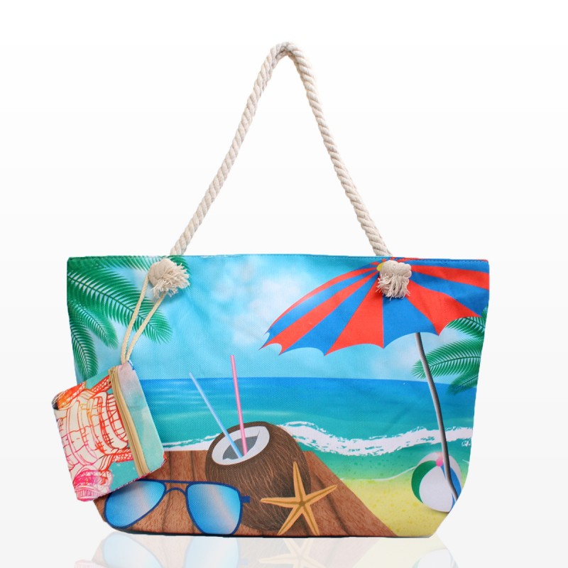 Плажни Чанти с Морски Принт - Код 3320