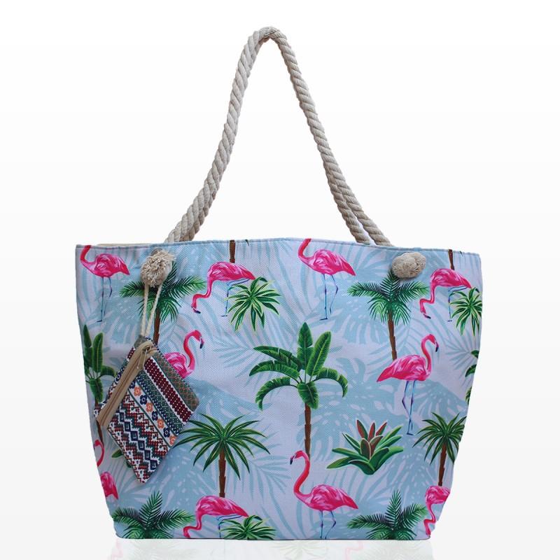 Плажни Чанти с Палми и Фламинго