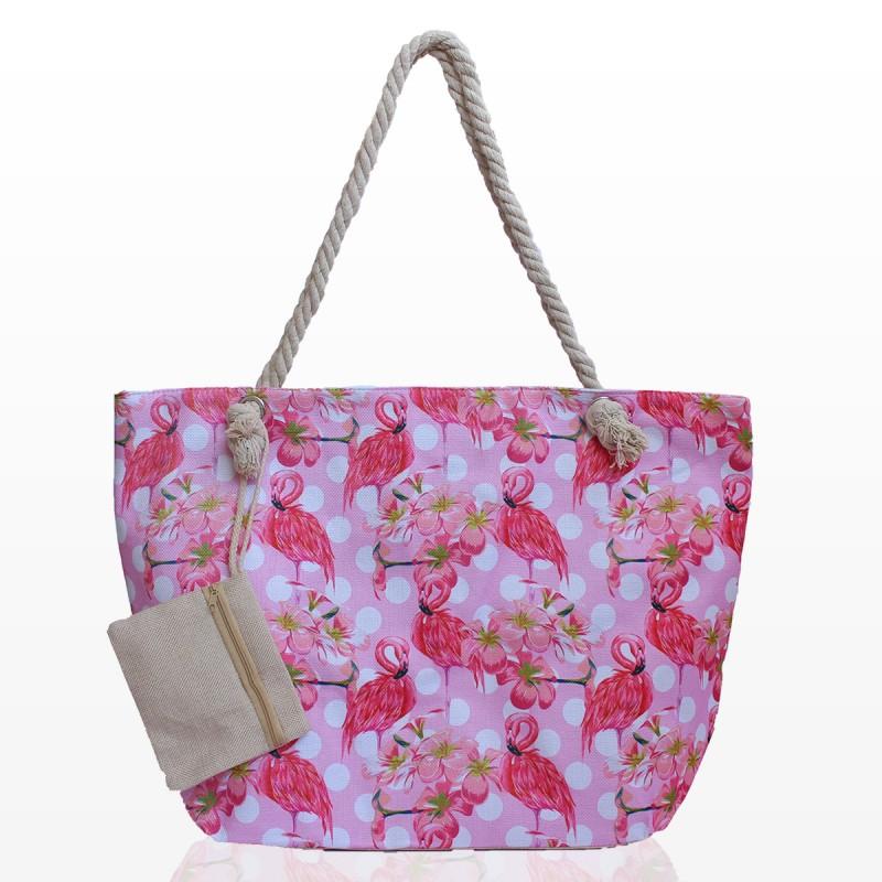 Плажни Чанти с Портмоне и Фламинго
