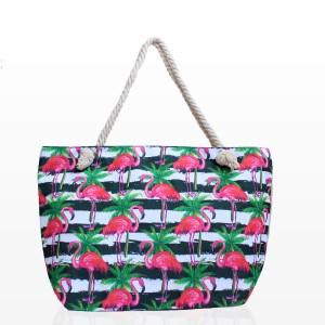 Плажни Чанти с Принт Фламинго