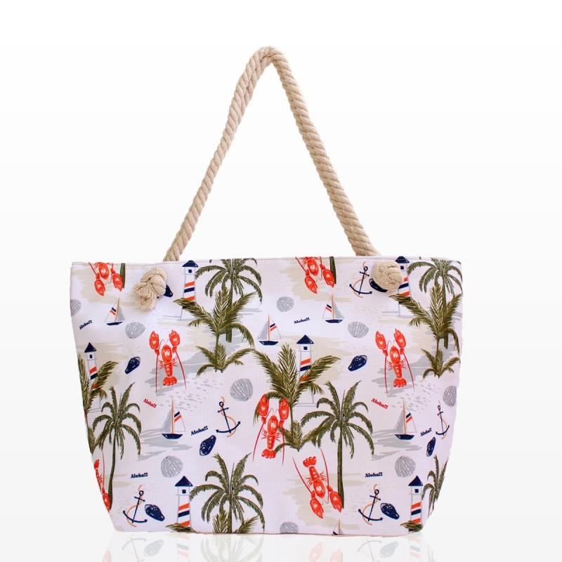 Плажни Чанти с Принт Палми