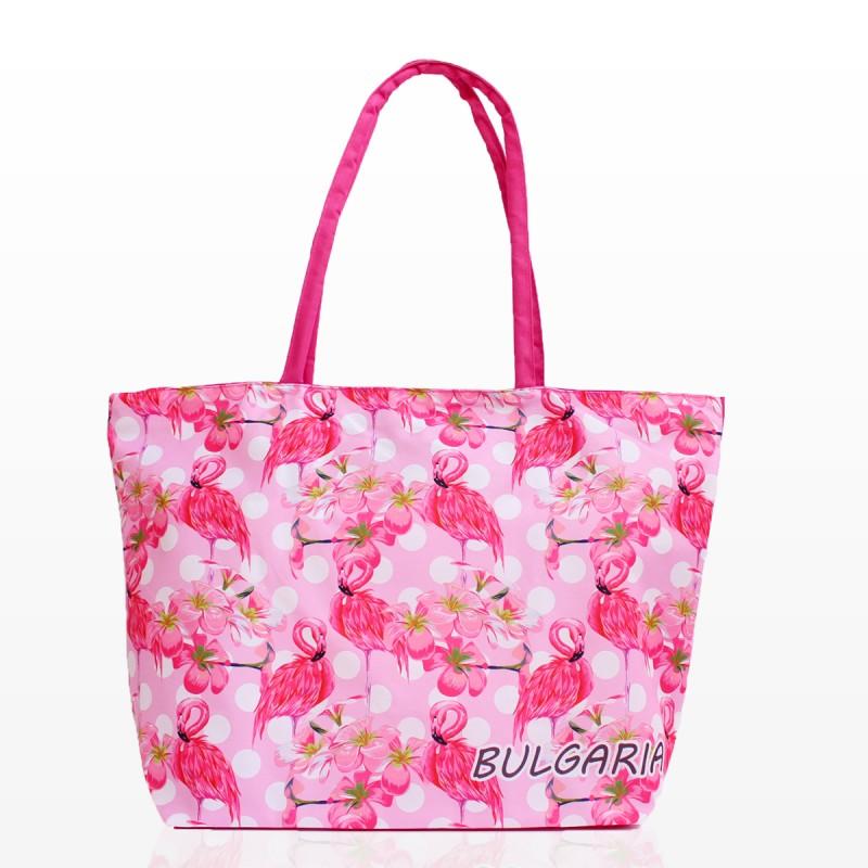 Плажни Чанти с Розово Фламинго