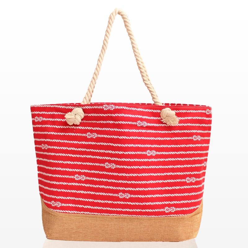 Плажни Чанти Вики - Червена