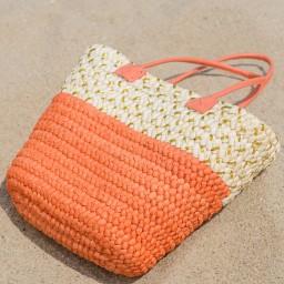 Плетена голяма плажна чанта