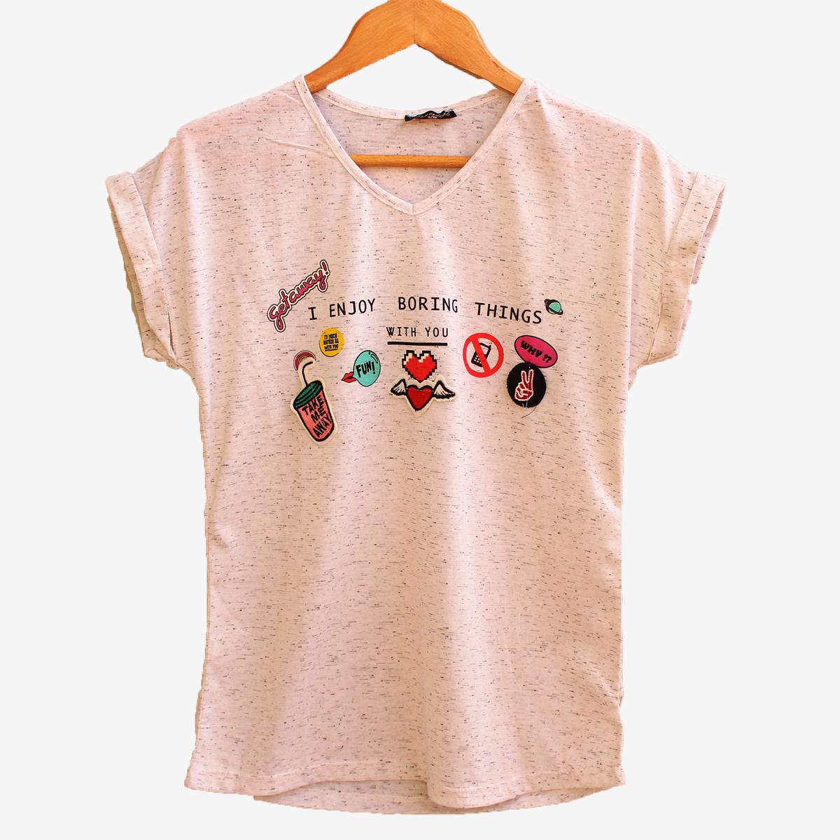 Дамска тениска с апликации