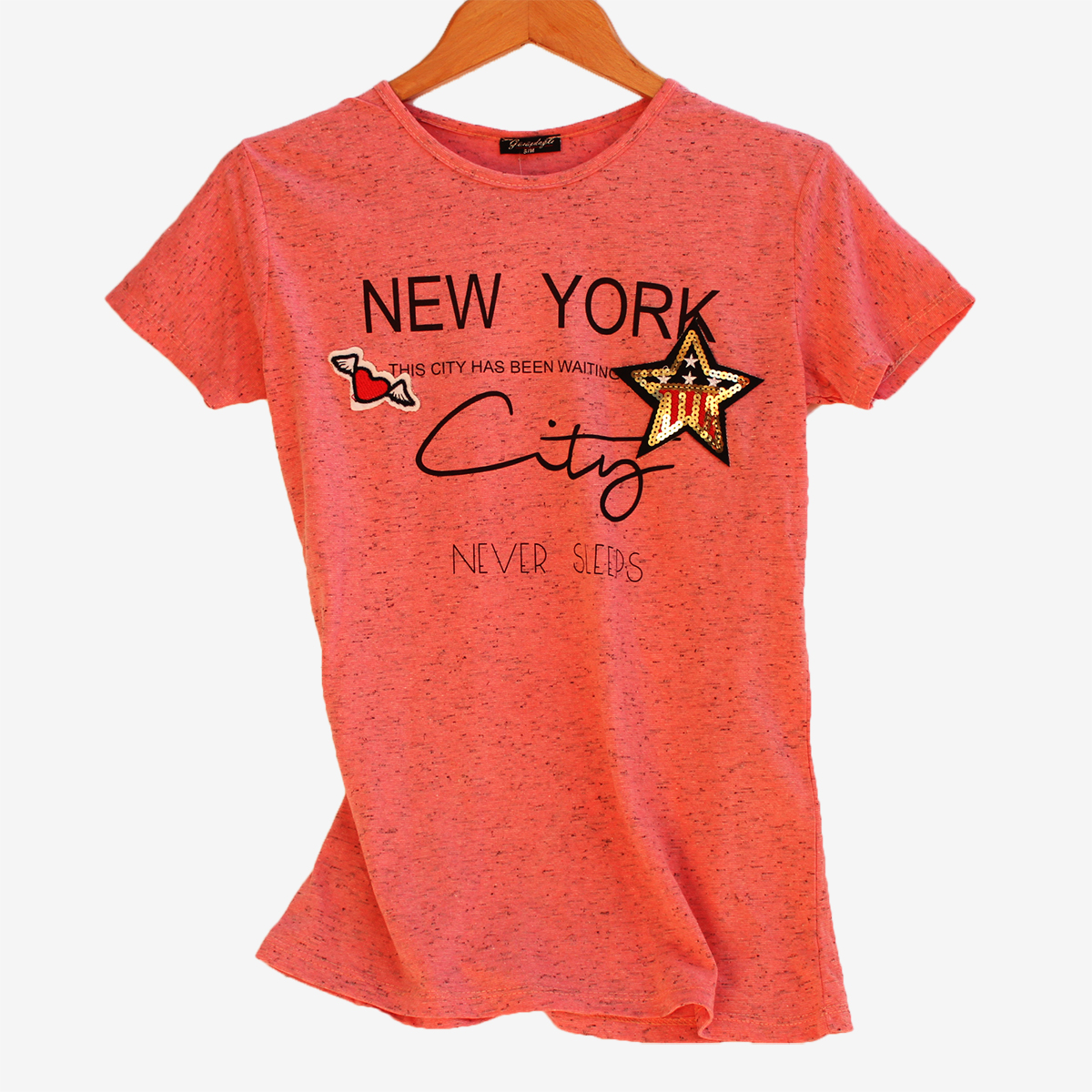 Дамска тениска с къс ръкав New York