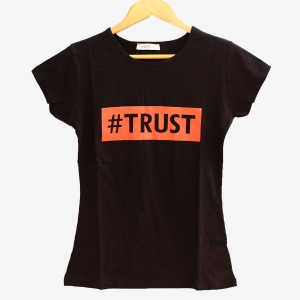 Дамска тениска Trust в черен цвят
