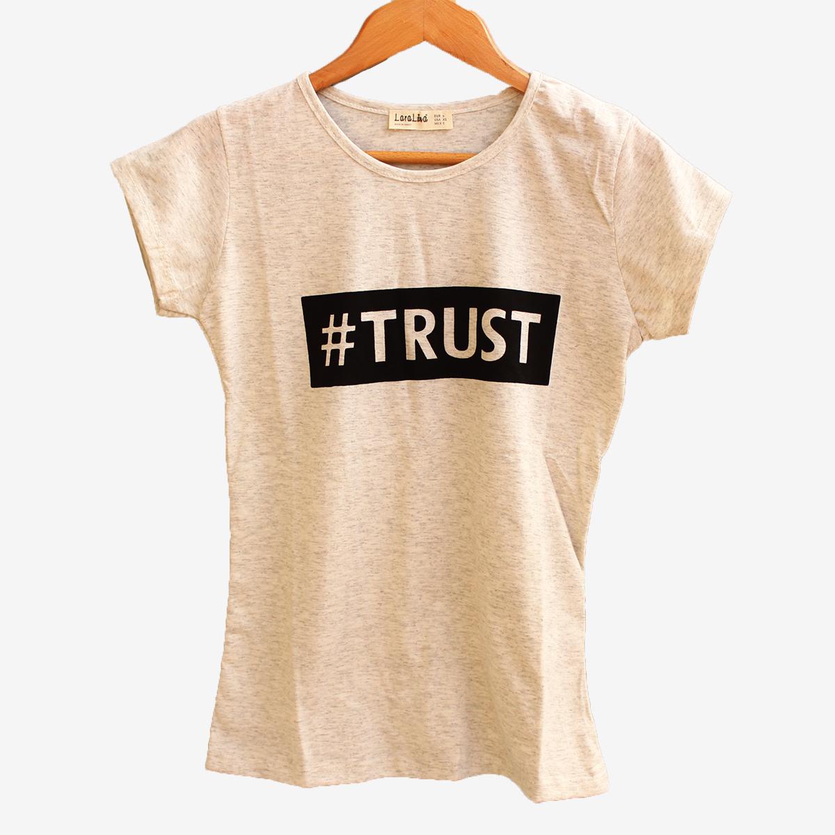 Дамска тениска Trust в сив цвят