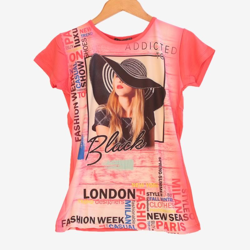 Дамска тениска в червен цвят