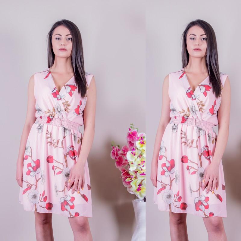 Ежедневна дамска рокля в розово