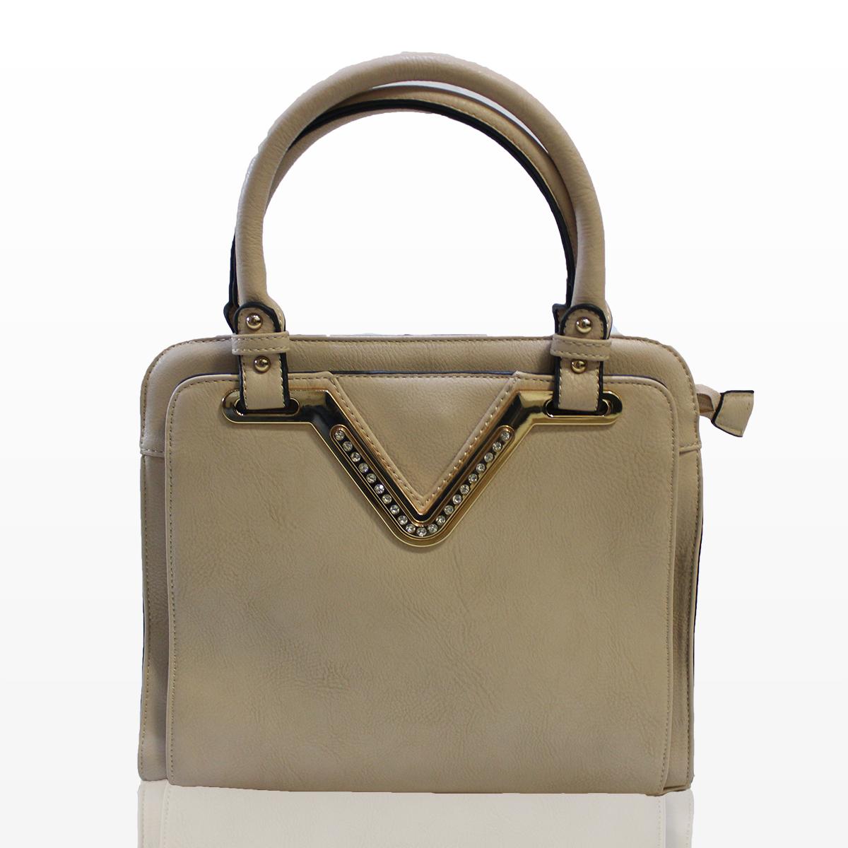Дамска чанта Кари - кремава