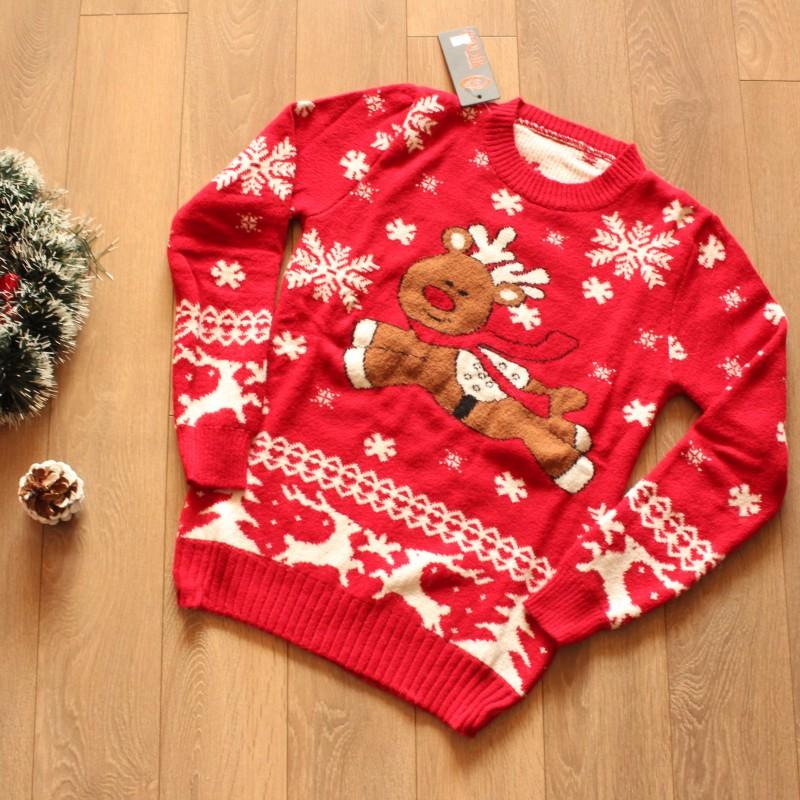 Коледен Пуловер - Червен