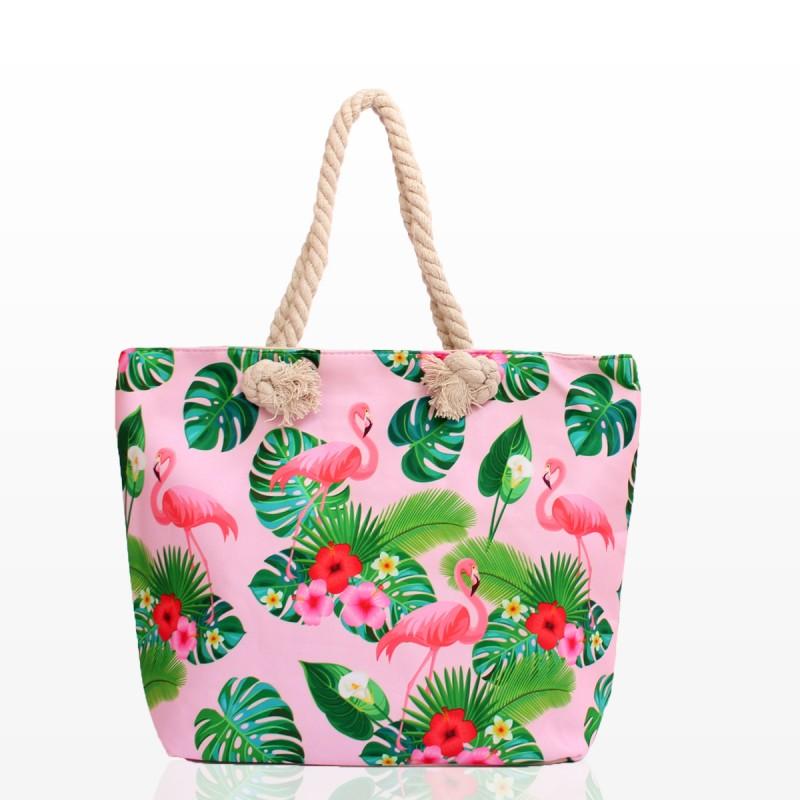 Плажни Чанти с Фламинго и Цветя