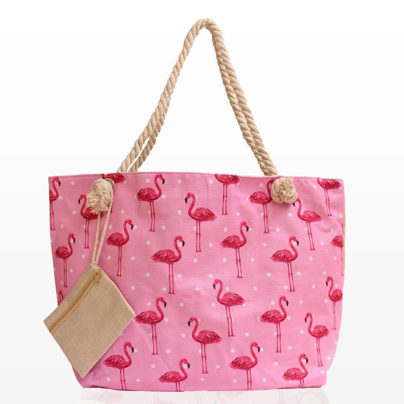 Плажни Чанти с Розово Фламинго 2