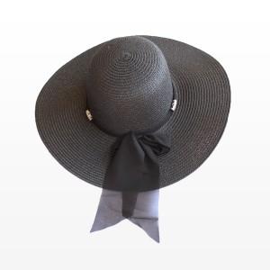 Плажна шапка в Черен цвят