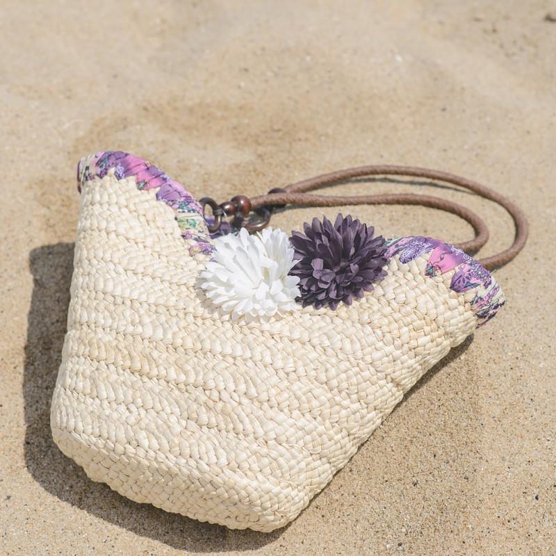 Плетени плажни чанти