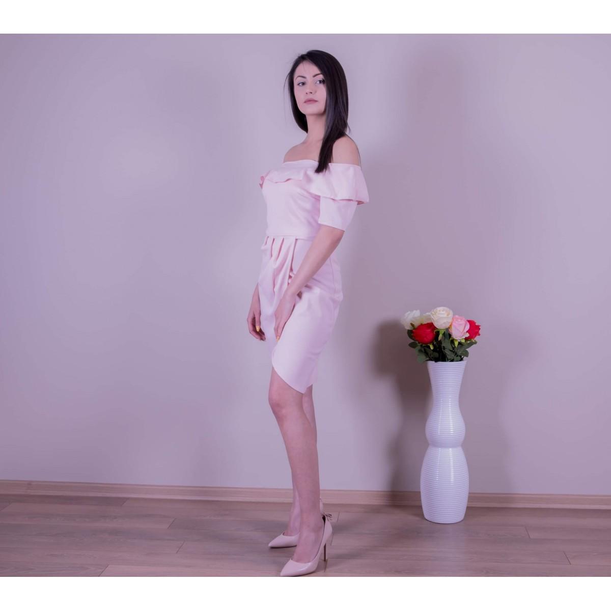 Розова рокля с цепка  Снимка 3 от 3