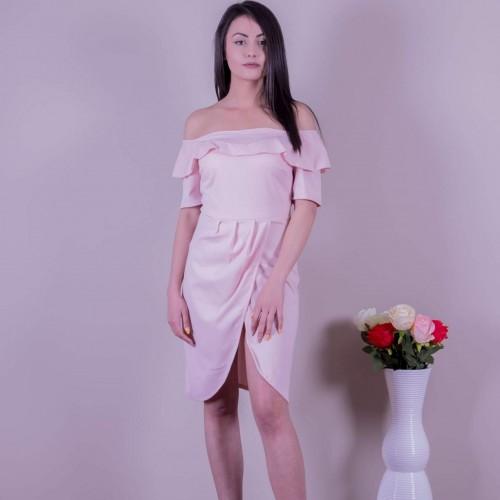 Розова рокля с цепка