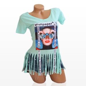 Дамска Тениска в Ментов Цвят